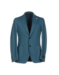 Tombolini Suits And Jackets Blazers Men Deep Jade