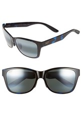 Men's Maui Jim 'Road Trip' 57Mm Polarized Sunglasses Blue And Black Tortoise Grey