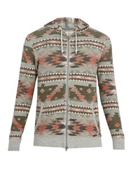 Faherty Thunderbird Aztec Hooded Cotton Sweatshirt Multi