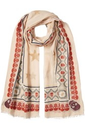 Zadig And Voltaire Printed Scarf With Cotton