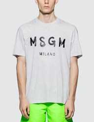 Msgm Brush Stroke Logo S S T Shirt
