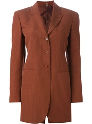 Romeo Gigli Vintage Oversize Suit Jacket Red