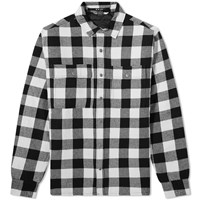 Ksubi Dub Check Padded Shirt Black
