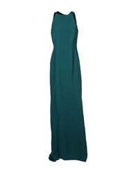Lanvin Long Dresses Dark Green
