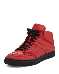 Exotron Leather Sneaker Red Alejandro Ingelmo