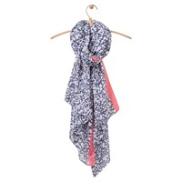 Joules Wensley Ditsy Floral Print Scarf Navy White