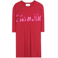 3.1 Phillip Lim Printed Cotton T Shirt Ruby