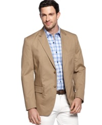Tasso Elba Big And Tall Cotton Twill Core Blazer Safari Tan