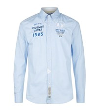 La Martina Logo Patch Shirt Male Ice Blue