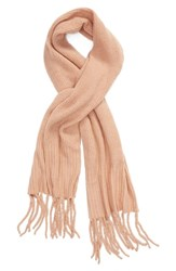 Free People Jaden Rib Knit Blanket Scarf Pink