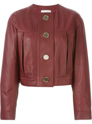 Barbara Casasola Buttoned Jacket Red