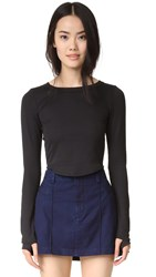 Free People Movement Time Out Crop Top Black