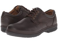 Nunn Bush Waterloo Plain Toe Waterproof Oxford Brown Crazy Horse Men's Plain Toe Shoes