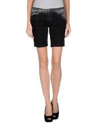 Galliano Denim Shorts Black