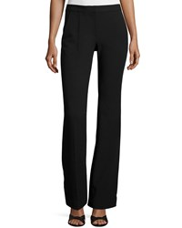 Tibi Slim Fit Boot Cut Pants Black