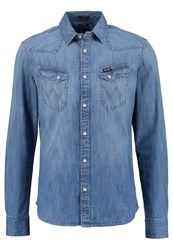 Wrangler Western Slim Fit Shirt Light Indigo Light Blue Denim