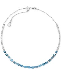 Michael Kors Two Tone Nugget Bead Choker Necklace A Macy's Exclusive Style Blue