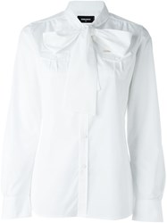 Dsquared2 Bow Shirt White