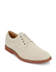 G.H. Bass Textured Lace Up Derby Shoes Oyster