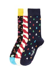 Happy Socks 'Christmas' Socks 3 Pair Pack Multi Colour