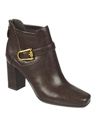 Franco Sarto Zengo High Heel Boots Brown Leather