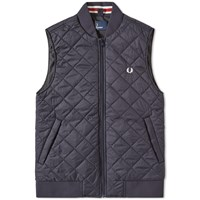 Fred Perry Quilted Gilet Blue