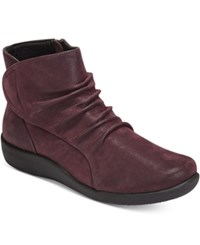 Clarks Collection Women's Cloud Steppers Sillian Chell Booties Women's Shoes Aubergine