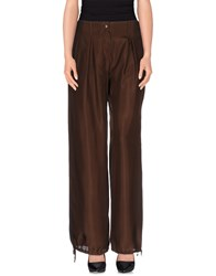 Angelo Marani Trousers Casual Trousers Women Dark Brown