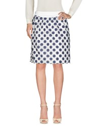 Cappellini By Peserico Knee Length Skirts Blue