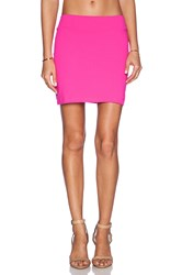 Susana Monaco Slim Mini Skirt Pink