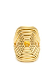 Fernando Jorge Yellow Gold Cushioned Lines Ring