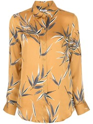 Equipment Foliage Print Shirt Yellow