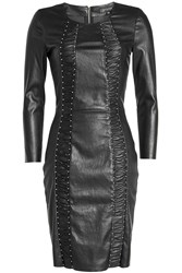 Jitrois Express Studs Leather Dress Black
