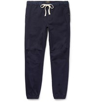 Beams Plus Slim Fit Tapered Cotton Blend Twill Trousers Navy