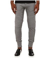 The Kooples Sport Patch Classic Fleece Sweatpants Grey Men's Casual Pants Gray