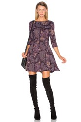 Suno Fit And Flare Dress Wine