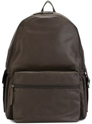 Orciani Classic Backpack Brown