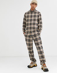 Brooklyn Supply Co. Co Co Ord Trousers In Brown Check