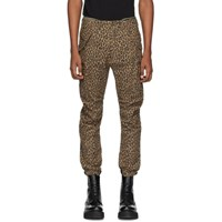 R 13 R13 Brown Leopard Military Cargo Pants