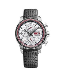 Chopard 44Mm Racing Mille Miglia Classic Chronograph Watch With Tire Strap Black Red