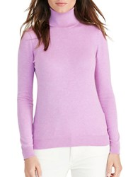 Lauren Ralph Lauren Stretch Silk Turtleneck Hyacinth Purple