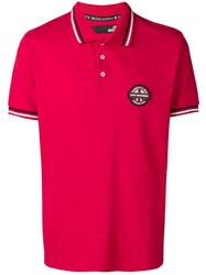 Love Moschino Logo Patch Polo Shirt Red