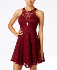 Material Girl Juniors' Lace Skater Dress Only At Macy's Zinfandel