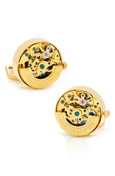 Penny Black 40 'Kinetic Watch' Cuff Links Gold