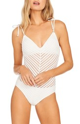 Robin Piccone Carly One Piece Swimsuit White