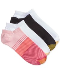 Gold Toe Women's 4 Pk. Micro Stripe No Show Socks Blush