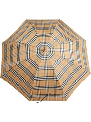 Burberry Vintage Check Walking Umbrella Yellow And Orange