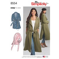 Simplicity 'S Trench Coat And Jacket Sewing Pattern 8554