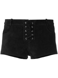 Etoile Isabel Marant Lace Up Shorts Black