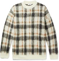 Cmmn Swdn Micha Oversized Checked Knitted Sweater White